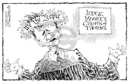 Cartoonist Nick Anderson  Nick Anderson's Editorial Cartoons 2003-08-28 barrier
