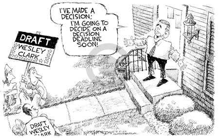 Cartoonist Nick Anderson  Nick Anderson's Editorial Cartoons 2003-09-05 presidential candidate