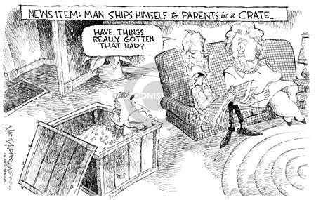 Cartoonist Nick Anderson  Nick Anderson's Editorial Cartoons 2003-09-11 son