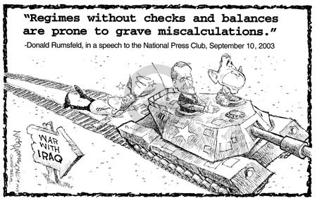 Cartoonist Nick Anderson  Nick Anderson's Editorial Cartoons 2003-09-14 Donald Rumsfeld