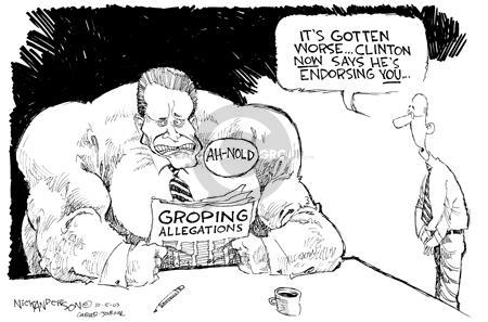 Nick Anderson  Nick Anderson's Editorial Cartoons 2003-10-05 endorse