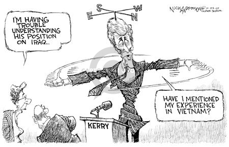 Cartoonist Nick Anderson  Nick Anderson's Editorial Cartoons 2003-10-23 presidential candidate