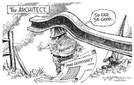 Cartoonist Nick Anderson  Nick Anderson's Editorial Cartoons 2003-10-29 reconstruction