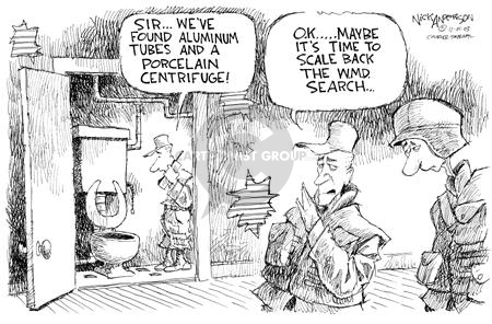 Cartoonist Nick Anderson  Nick Anderson's Editorial Cartoons 2003-11-01 weapon