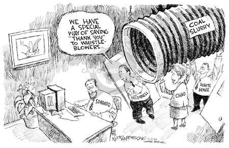 Cartoonist Nick Anderson  Nick Anderson's Editorial Cartoons 2003-11-11 Mitch McConnell