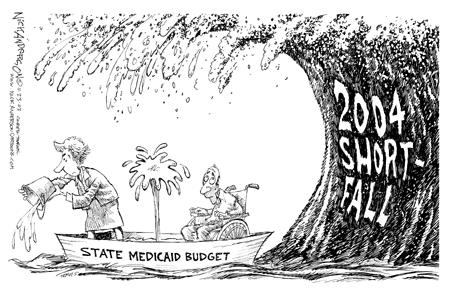 Cartoonist Nick Anderson  Nick Anderson's Editorial Cartoons 2003-11-22 state budget
