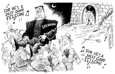 Nick Anderson  Nick Anderson's Editorial Cartoons 2003-12-10 federal budget