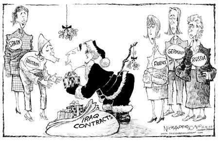 Cartoonist Nick Anderson  Nick Anderson's Editorial Cartoons 2003-12-12 Christmas gift