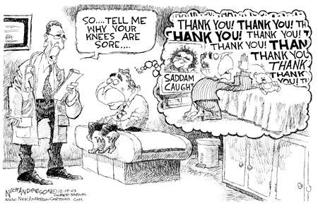 Nick Anderson  Nick Anderson's Editorial Cartoons 2003-12-19 Saddam