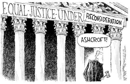 Nick Anderson  Nick Anderson's Editorial Cartoons 2003-12-21 supreme court judge