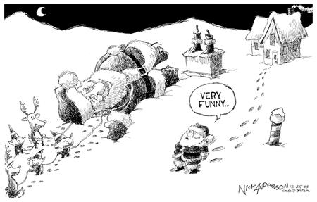 Cartoonist Nick Anderson  Nick Anderson's Editorial Cartoons 2003-12-25 oust