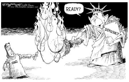 Cartoonist Nick Anderson  Nick Anderson's Editorial Cartoons 2004-01-20 torch