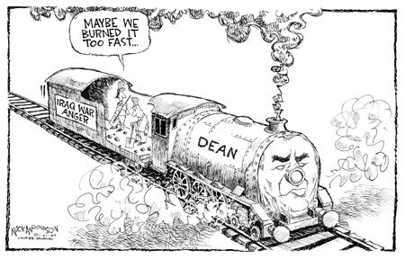 Cartoonist Nick Anderson  Nick Anderson's Editorial Cartoons 2004-01-21 presidential candidate