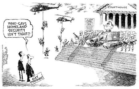 Cartoonist Nick Anderson  Nick Anderson's Editorial Cartoons 2004-01-22 barrier