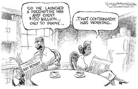 Cartoonist Nick Anderson  Nick Anderson's Editorial Cartoons 2004-01-27 weapon