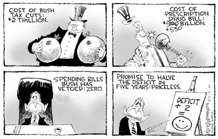 Nick Anderson  Nick Anderson's Editorial Cartoons 2004-02-12 tax pledge