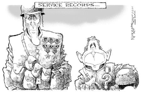 Nick Anderson  Nick Anderson's Editorial Cartoons 2004-02-13 military service