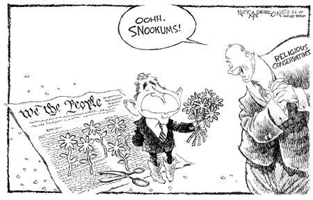 Nick Anderson  Nick Anderson's Editorial Cartoons 2004-02-26 conservative