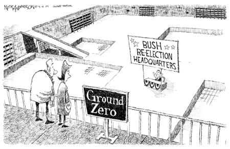 Cartoonist Nick Anderson  Nick Anderson's Editorial Cartoons 2004-03-09 presidential candidate