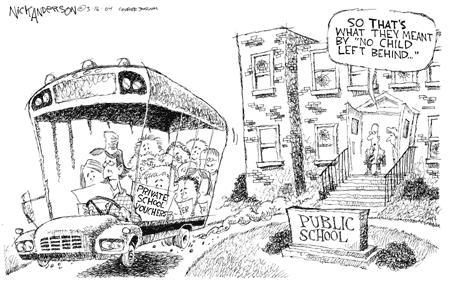 Nick Anderson  Nick Anderson's Editorial Cartoons 2004-03-16 public school