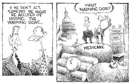 Nick Anderson  Nick Anderson's Editorial Cartoons 2004-03-27 federal budget
