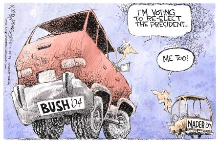 Cartoonist Nick Anderson  Nick Anderson's Editorial Cartoons 2004-03-30 presidential candidate