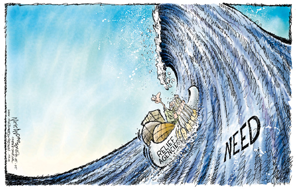 Cartoonist Nick Anderson  Nick Anderson's Editorial Cartoons 2004-01-05 relief