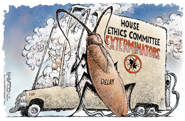 Cartoonist Nick Anderson  Nick Anderson's Editorial Cartoons 2005-01-06 house majority leader
