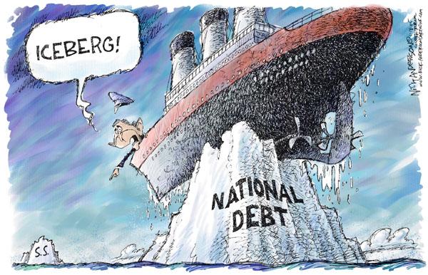 Nick Anderson  Nick Anderson's Editorial Cartoons 2005-01-18 national debt
