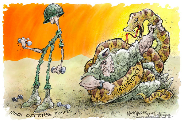 Nick Anderson  Nick Anderson's Editorial Cartoons 2005-01-23 military preparedness