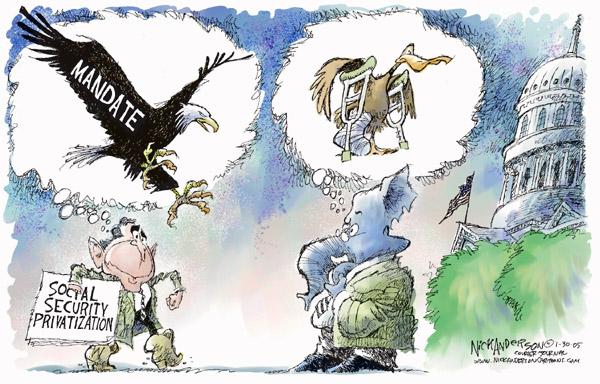 Cartoonist Nick Anderson  Nick Anderson's Editorial Cartoons 2005-01-30 social security