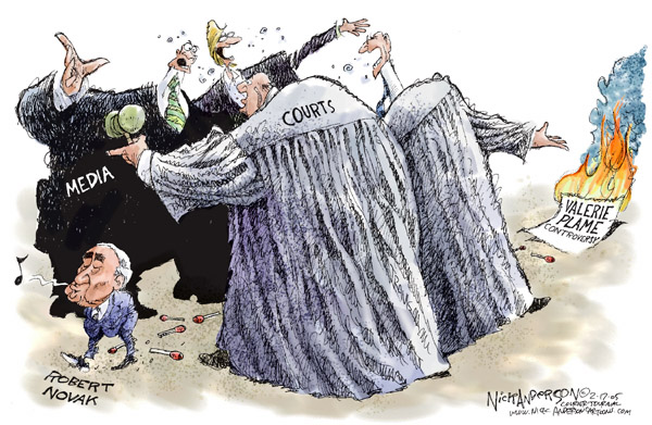 Nick Anderson  Nick Anderson's Editorial Cartoons 2005-02-17 freedom of the press