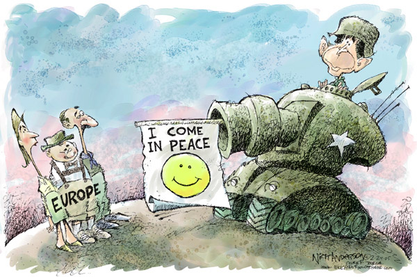 Cartoonist Nick Anderson  Nick Anderson's Editorial Cartoons 2005-02-24 inconsistency