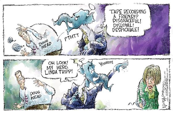 Cartoonist Nick Anderson  Nick Anderson's Editorial Cartoons 2005-02-25 hypocrite
