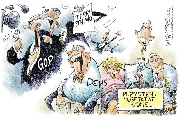 Cartoonist Nick Anderson  Nick Anderson's Editorial Cartoons 2005-03-22 federal court