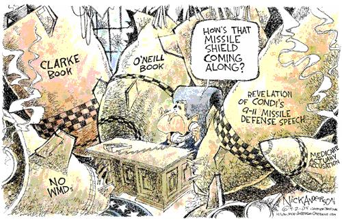 Cartoonist Nick Anderson  Nick Anderson's Editorial Cartoons 2004-04-02 Richard