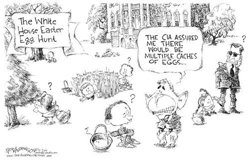 Cartoonist Nick Anderson  Nick Anderson's Editorial Cartoons 2004-04-07 weapon