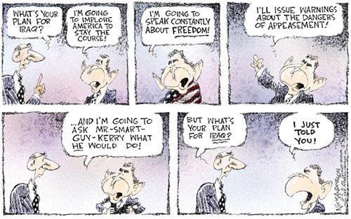 Cartoonist Nick Anderson  Nick Anderson's Editorial Cartoons 2004-04-15 presidential candidate