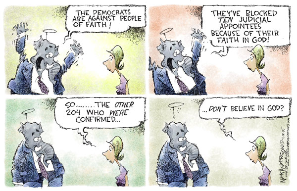 Cartoonist Nick Anderson  Nick Anderson's Editorial Cartoons 2005-04-19 liberty and justice