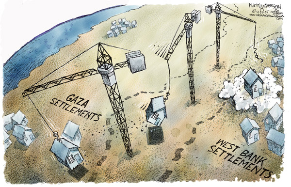 Nick Anderson  Nick Anderson's Editorial Cartoons 2005-04-20 Israel