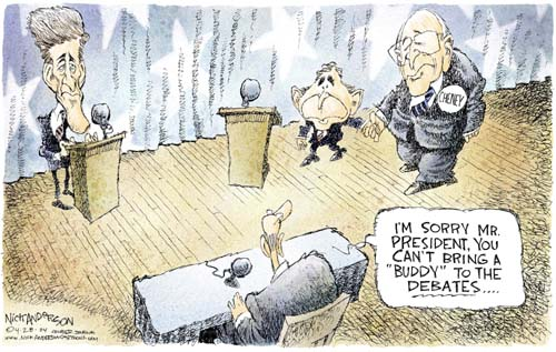 Cartoonist Nick Anderson  Nick Anderson's Editorial Cartoons 2004-04-28 appearance