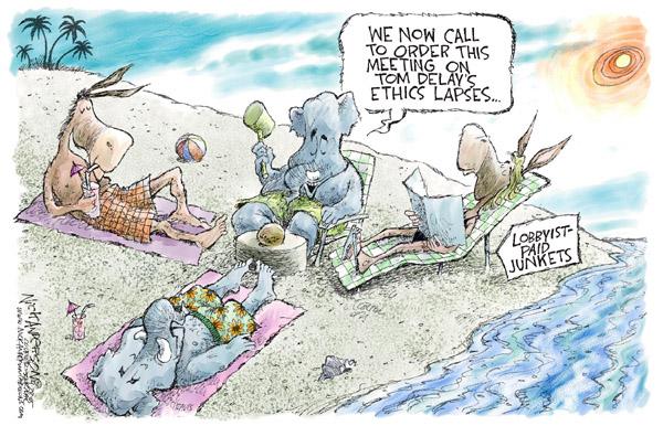 Cartoonist Nick Anderson  Nick Anderson's Editorial Cartoons 2005-04-28 house majority leader