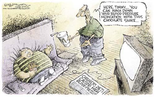 Cartoonist Nick Anderson  Nick Anderson's Editorial Cartoons 2004-05-06 son