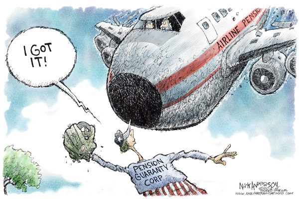 Nick Anderson  Nick Anderson's Editorial Cartoons 2005-05-12 United Airlines