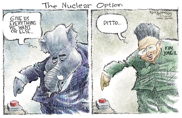 Cartoonist Nick Anderson  Nick Anderson's Editorial Cartoons 2005-05-20 weapon