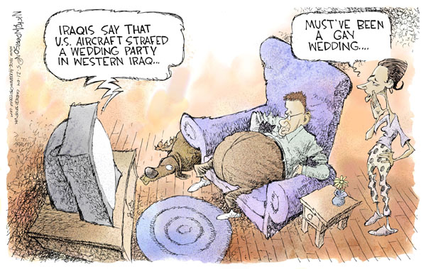 Cartoonist Nick Anderson  Nick Anderson's Editorial Cartoons 2004-05-21 party