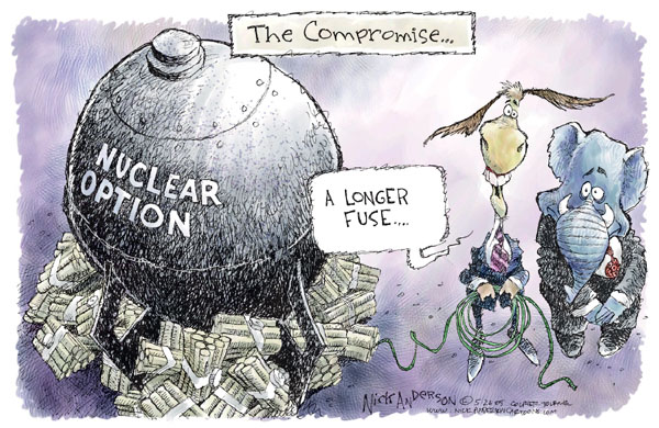 Cartoonist Nick Anderson  Nick Anderson's Editorial Cartoons 2005-05-26 compromise