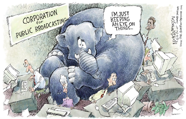 Cartoonist Nick Anderson  Nick Anderson's Editorial Cartoons 2005-06-24 media bias