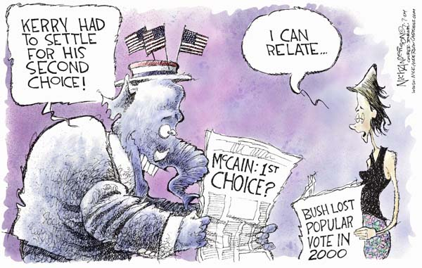 Cartoonist Nick Anderson  Nick Anderson's Editorial Cartoons 2004-07-07 presidential candidate
