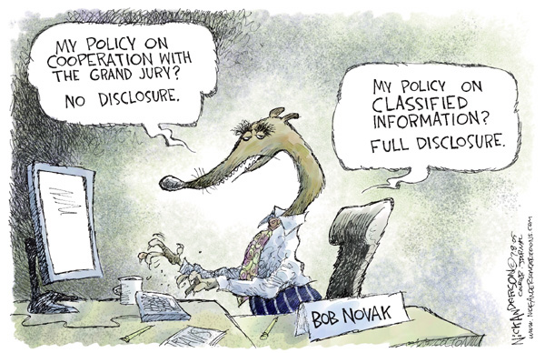 Nick Anderson  Nick Anderson's Editorial Cartoons 2005-07-08 freedom of the press